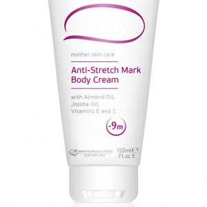Anti-Stretch Marks Body Cream For Women During Pregnancy - 150 ml. Mother Skin Care Perfume Free And Dermatologically Tested