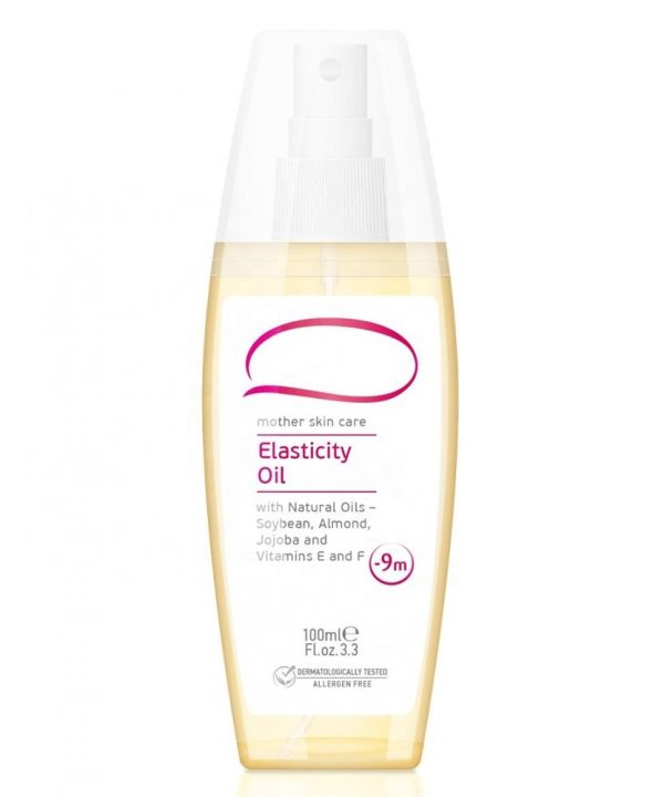 Elasticity Oil For Woman During Pregnancy - 100ml. Mother Skin Care Allergens Free And Dermatologically Tested Made in EU