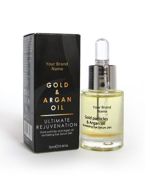 24H Eye Serum With Gold Particles And Argan Oil 100 % Natural Product Private Label | Wholesale | Bulk Made In EU