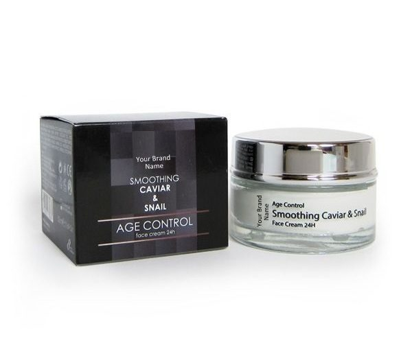 24H Face Cream With Caviar And Snail Extracts 100 % Natural Product Private Label | Wholesale | Bulk Made In EU