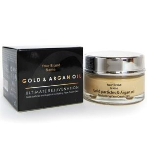 24H Face Cream With Gold Particles And Argan Oil 100 % Natural Product Private Label | Wholesale | Bulk Made In EU