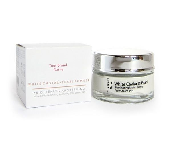 24H Illuminating Moisturizing Face Cream With White Caviar And Pearl Natural Product Private Label   Wholesale   Bulk Made In EU
