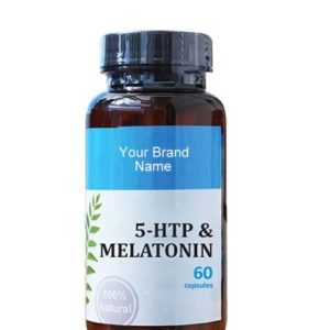 5-HTP With Melatonine Food Supplement Natural Private Label | Wholesale
