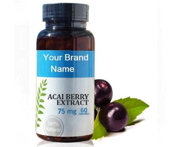 Acai Berry Extract Food Supplement Natural Private Label | Wholesale