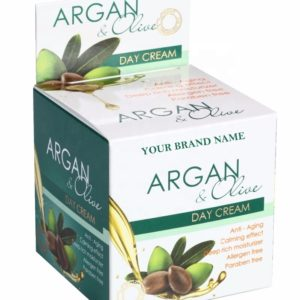Anti-Aging Day Face Cream Argan and Olive Paraben Free Private Label Available | Wholesale | White Label