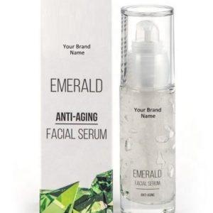 Anti-Aging Emerald Face Serum 100% Natural Product Private Label | Wholesale | Bulk Made In EU