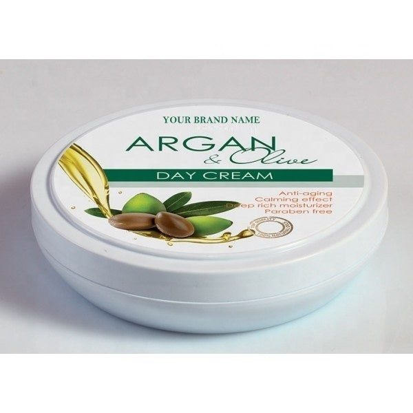 Anti-Aging Face Cream Argan and Olive Oil Paraben Free Private Label Available | Wholesale | White Label