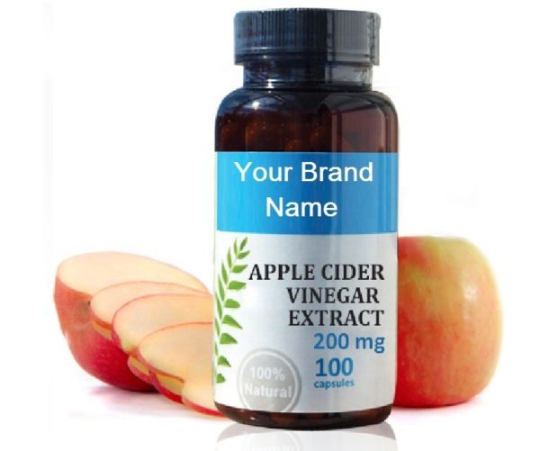 Apple Cider Vinegar Extract Food Supplement Natural Private Label | Wholesale | Bulk