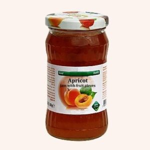 Apricot Jam With Fruit Pieces - 360 g. 40% Fruit Content Private Label | Wholesale | Bulk | Made In EU