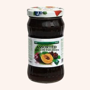 Assorted Fruits Jam With Fruit Pieces - 360 g. 40% Fruit Content Private Label | Wholesale | Bulk | Made In EU