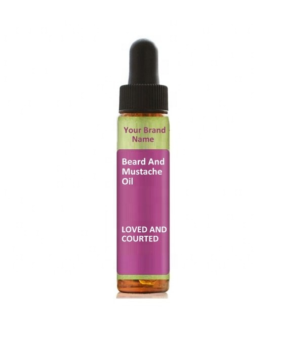 Beard And Mustache Oil Loved And Courted Natural Product Private Label | Wholesale