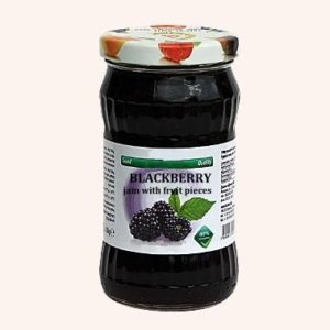 Blackberry Jam With Fruit Pieces - 360 g. 40% Fruit Content Private Label | Wholesale | Bulk | Made In EU