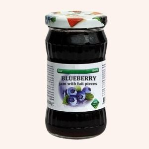 Blueberry Jam With Fruit Pieces - 360 g. 40% Fruit Content Private Label | Wholesale | Bulk | Made In EU