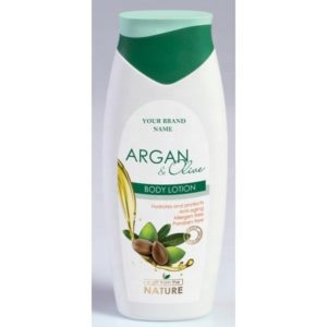 Body Lotion Argan and Olive Oil Paraben Free Private Label Available   Wholesale   White Label