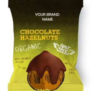 Chocolate Coated Hazelnuts Vegan And Gluten Free Certified Organic | Wholesale | Private Label | Made In EU
