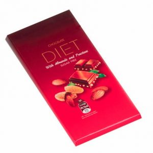 Chocolate With Almond And Fructose - 90 g. Suitable For Diabetics Private Label | Wholesale | Bulk | Made In EU