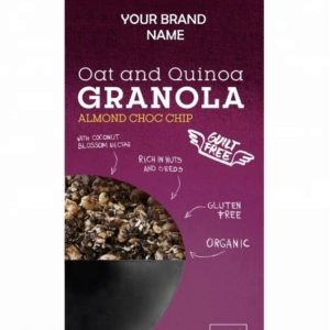Crunchy Granola With Almonds And Chocolate Instant Breakfast Cereal Vegan And Gluten free Certified Organic | Private Label
