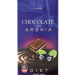 Dark Chocolate With Chokeberry And Maltitol - 80 g. Suitable For Diabetics. Private Label Available. Made In EU