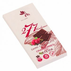 Dark Chocolate With Stevia And Cranberry - 80 g. Suitable For Diabetics Private Label | Wholesale | Bulk | Made In EU