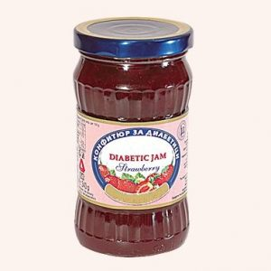 Diabetic Jam From Strawberry - 340 g. Private Label | Wholesale | Bulk | Made In EU