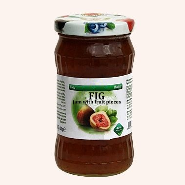 Fig Jam With Fruit Pieces - 360 g. 40% Fruit Content Private Label | Wholesale | Bulk | Made In EU