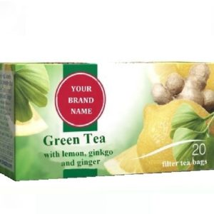 Green Tea With Lemon Gingko And Ginger Only In Private Label | Wholesale | White Label