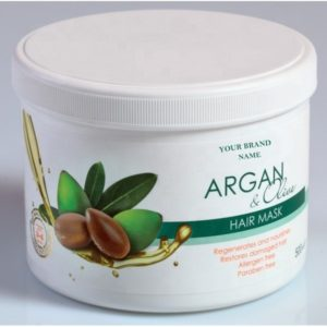 Hair Mask Argan and Olive Oil Paraben Free Private Label Available | Wholesale | White Label