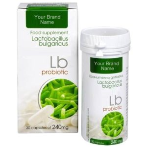 LB Probiotic Food Supplement 100% Natural Product Private Label | Wholesale | Bulk Made in EU