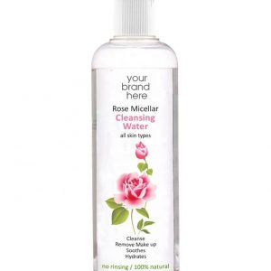 Micellar Rose Water From Bulgarian Rosa Damascena Bottle With Cap Private Label | Wholesale | Bulk | White Label