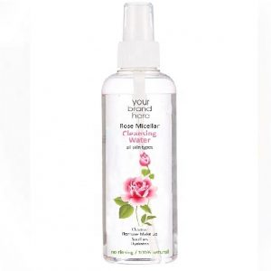 Micellar Rose Water From Bulgarian Rosa Damascena Bottle With Pump Private Label | Wholesale | Bulk | White Label