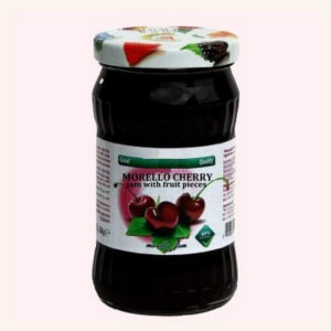 Morello Cherry Jam With Fruit Pieces - 360 g. 40% Fruit Content Private Label | Wholesale | Bulk | Made In EU