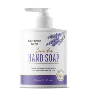 Natural Liquid Hand Soap With Lavender | Private Label | Wholesale | Bulk | Made in EU