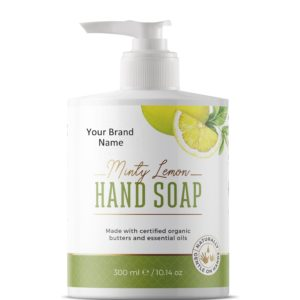 Natural Liquid Hand Soap With Mint And Lemon | Private Label | Wholesale | Bulk | Made in EU