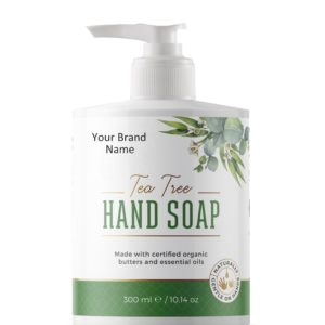 Natural Liquid Hand Soap With Tea Tree | Private Label | Wholesale | Bulk | Made in EU