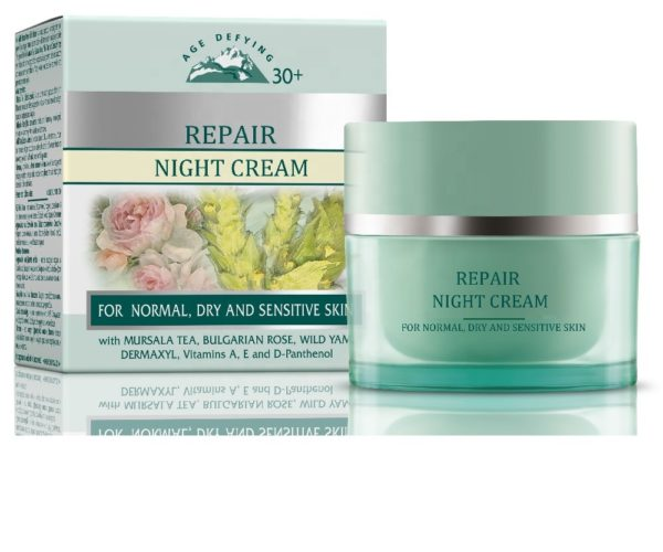 Night Repair Cream With Anti Age Effect For Normal Dry And Sensitive Skin