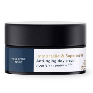 Organic Anti-Age Day Face And Eye Cream With Immortelle And Superseeds Private Label | Wholesale | Bulk | Made in EU