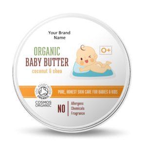 Organic Baby Body Butter Private Label | Wholesale | Bulk | Made in EU