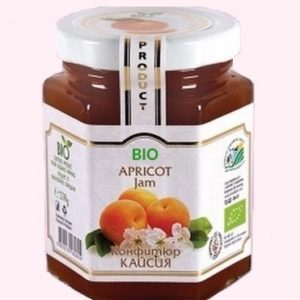 Organic Bio Jam From Apricot - 230 g. Private Label | Wholesale | Bulk | Made In EU
