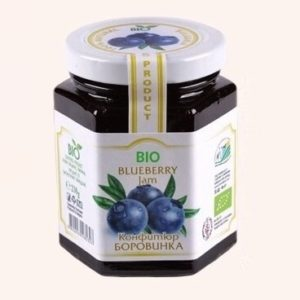 Organic Bio Jam From Blueberry - 230 g. Private Label | Wholesale | Bulk | Made In EU