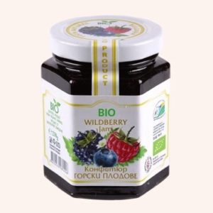 Organic Bio Jam From Forest Fruits - 230 g. Private Label | Wholesale | Bulk | Made In EU
