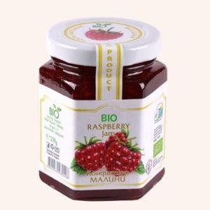 Organic Bio Jam From Raspberry - 230 g. Private Label | Wholesale | Bulk | Made In EU