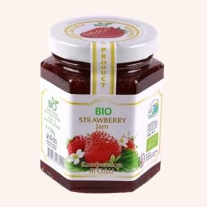 Organic Bio Jam From Strawberry - 230 g. Private Label | Wholesale | Bulk | Made In EU