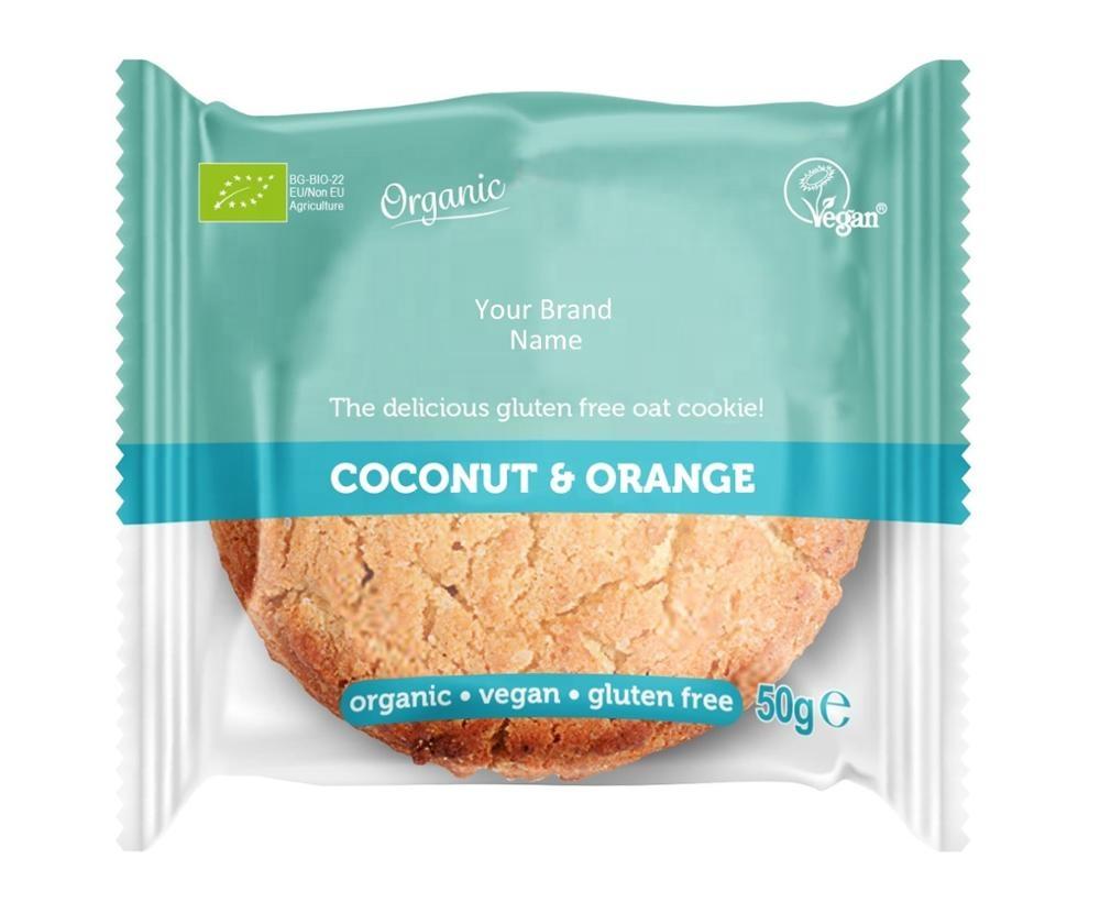 Organic Vegan Oat Cookie With Coconut And Orange Gluten ...