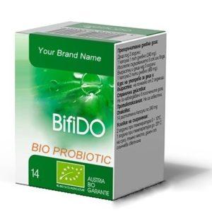Organic Vegan Probiotic Bifido Food Supplement 100% Natural Product Private Label | Wholesale | Bulk Made in EU