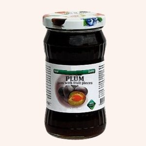 Plum Jam With Fruit Pieces - 360 g. 40% Fruit Content Private Label | Wholesale | Bulk | Made In EU