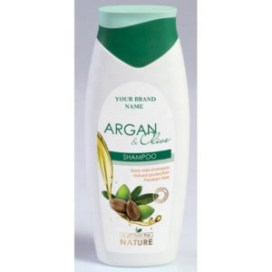 Shampoo Argan and Olive Oil Paraben Free Private Label Available | Wholesale | White Label