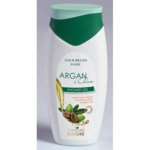 Shower Gel Argan and Olive Oil Paraben Free Private Label Available | Wholesale | White Label