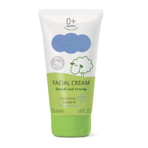 Smooth And Creamy Facial Baby Cream With Herbal Extracts 0+ Months With Herbal Extracts Baby Skin Care Dermatologically Tested