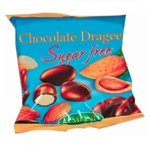 Sugar Free Chocolate Dragee With Almonds - 80 g. Suitable For Diabetics Private Label | Wholesale | Bulk | Made In EU