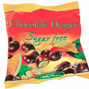 Sugar Free Chocolate Dragee With Orange - 80 g. Suitable For Diabetics Private Label | Wholesale | Bulk | Made In EU
